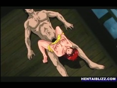 Busty Japanese hentai gets licked wetpussy and deep fucked bigcock