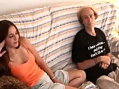 Nasty Kaylie blows a cock and gets pounded doggystyle in a hot bed sex