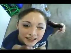 custest russian girl facial
