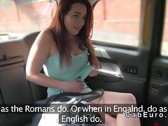 Dutch amateur flashing in British fake taxi