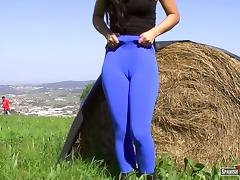Sweet teen blue cameltoe