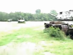 Outdoor military sex action