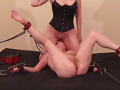 Raven gets dominated and eats girlfriends pussy