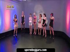Hot sluts attending bukkake orgy