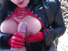 Compilation Of Busty Goth Chick Cumshots