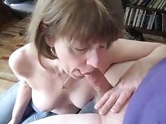 Mrs. Commish sucks cock in jeans