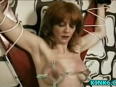 Master tortures wet pussy