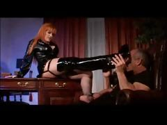 Office Dominatrix Fucks Boss