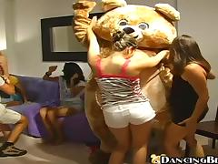Birthday girl gets fucked at Dancing Bear party