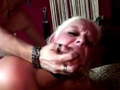 Blonde reality bitch takes it like a pro up her asshole