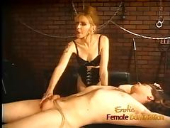 Raunchy dude lets two seductive fillies do naughty things