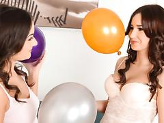 Anina Silk & Cherry Bright in Balloon babes - SapphicErotica