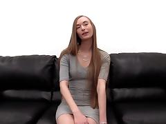 Nikki's hot legs go up high as she receives a pulsating cum gun