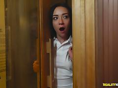Phoenix Marie and her horny lesbian friends fuck in a sauna