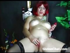 busty wife homemade toy fucking