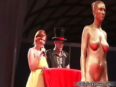Hot painted whore gets horny showing off part2