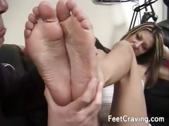 Horny guy gets a great footjob