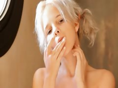 Shaving of beautiful 21yo blonde pussy
