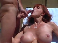 Big Titted Twyla's Outdoor Facial