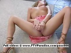 Danielle lovely lovely blonde doll masturbating