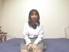 Asian schoolgirl working hot body