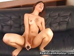 Real asian masturbating with her part3