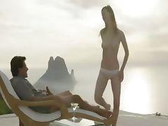 True beauty enjoy delicate outdoor sex