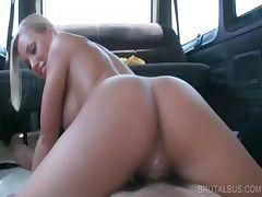 Blonde stunner working horny pecker