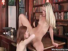 Two super hot brunette lesbians get part2