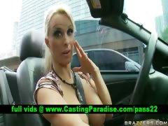 Holly Halston horny blonde pornstar flashing