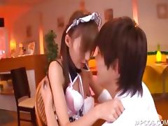 Asian teenage maiden gets cunt licked