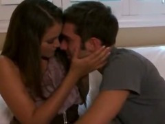 Stunning brunette babe Allie Haze blowjob and pussy pounded