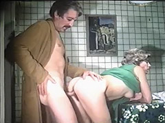 Horny Parents Fucking in the Kitchen 1970