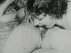 Horny Lesbian Loves Her Big Dildo 1920