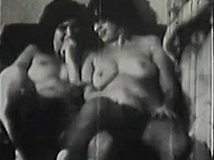 School Girls get a Hardcore Group Sex Lesson 1950