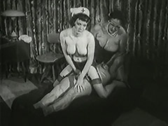 Granny Doctor Healing Old Man's Erection Problems 1950