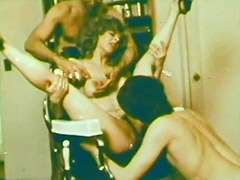Blonde Girl in a Wild Group Sex 1970