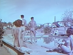 Outdoor Nudists Enjoying Naked Lifestyle 1950