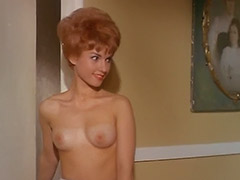 Sexy Redhead and Roommates Topless in House 1960