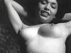 Sexy Brunette Babe Posing 1950
