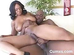 Black Big Titty Milf Riding Black Cock