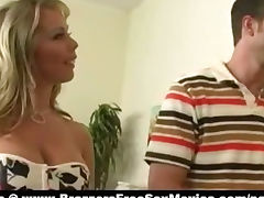 Super sexy busty blonde horny milf paint huge fat cock