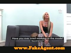 Blonde amateur banged in interview