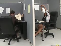 Smoke Break Turns Into Hardcore Sex In The Office With Audrey Bitoni
