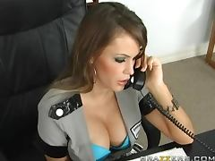 Officer Jenna Presley Getting Fucked By the Detective's Big Dick