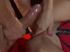Tight Blonde Breanne Benson Receives a Cum On Pussy In Sexy Lingerie