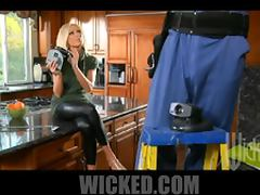 Heart Stopping Blonde MILF Diana Doll Gets Fucked In The Kitchen