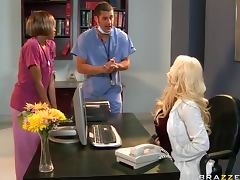 Slutty Blonde Babe Candy Manson Gets Fucked By a Male Nurse