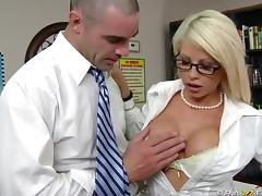 Banging the Gorgeous Blonde MILF Brooke Haven in the Office