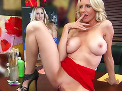 Blonde hottie Emma Starr titjob and fuck